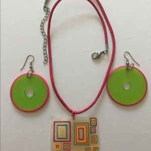 Jewelry - Mod necklace and earrings